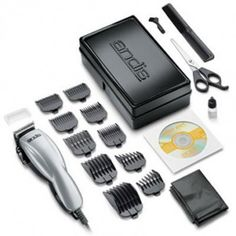19 Piece Silver Clipper Hair Cutting Kit $32.00 USD Includes stainless-steel shears, styling barber comb, barber cape, blade cleaning brush, protective blade guard, lubricating blade oil and durable storage case