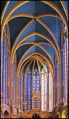 St Chappelle in Paris, you must see the stained glass windows!