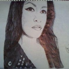 Retrato de Tania :3 medio vizca!!