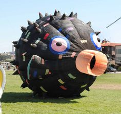 Large Puffer Fish kite @ San Francisco Kite Festival