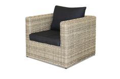 Hayman Outdoor Wicker Chair - Our stunning Hayman outdoor chair can be added to your Hayman outdoor lounge suite or perhaps you are just after a comforable chair or two so you can enjoy your outdoor alfresco area. The chair and all the components are made from Natural looking (PE) poly-wicker, it is fully UV stable and weatherproof, the wicker is hand woven over a quality rustproof powder coated quality aluminium frame. This outdoor wicker chair is finished off with thick luxurious charcoal…