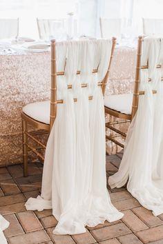 beautiful chair draping   Annamarie Akins