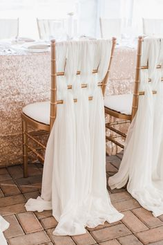 beautiful chair draping | Annamarie Akins