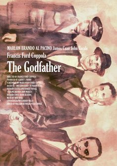Movie Poster Movement — The Godfather Part I & II by Tony Stella