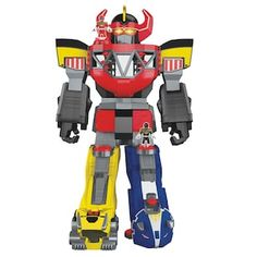 "Fisher-Price Imaginext Power Rangers Morphing Megazord - Fisher-Price - Toys ""R"" Us Power Rangers Megazord, Power Rangers Morphin, Power Rangers Figures, Power Rangers Toys, Power Rangers Ninja Steel, Power Ranger Party, Power Ranger Birthday, Brinquedos Fisher Price, Ri Happy"