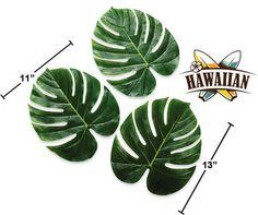 "72 Jumbo 13"" Palm Leaves Decorations Tropical Hawaiian Luau Party 6 Dozen   eBay"
