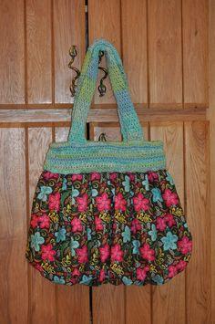 Handbag I made combining crochet and sewing.