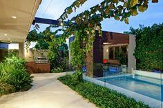 bonito diseño de jardín terraza