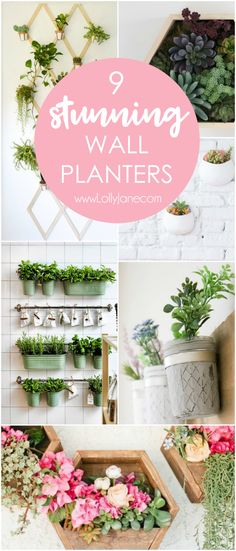Check out these green happy wall planter decor ideas! Love adding greenery indoors, such cute wall decor! Hanging Plants Outdoor, Indoor Planters, Diy Planters, Outdoor Decor, Indoor Greenhouse, Concrete Planters, Outdoor Spaces, Cute Wall Decor, Kids Wall Decor