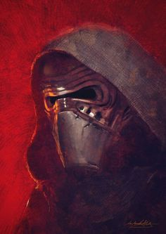 """Because of the recently released Trailer for """"The Force Awakens"""" I did this little speedpainting (Photoshop Kylo Ren Star Wars Saga, Star Wars Kylo Ren, Star Trek, Chewbacca, Starwars, Knights Of Ren, Star Wars Wallpaper, Mobile Wallpaper, Star Wars Characters"""