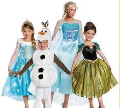 Frozen costumes for the whole fam!