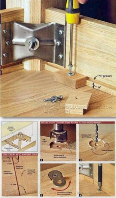Ways to Fasten Table Top - Woodworking Tips and Techniques | WoodArchivist.com
