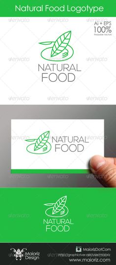 Natural Food Logo #GraphicRiver File Description This is custom logo template. Illustrator (AI), Vector (EPS) logo files included in this download. You can customize to your own branding.