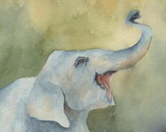 8x10 Happy Elephant by TracyWebbGallery on Etsy