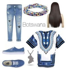 """Botswana African Inspo"" by evangelineom on Polyvore featuring Vans, Monsieur and FOSSIL"