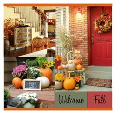 """""""""""Welcome fall""""-decor"""" by tainamaaria ❤ liked on Polyvore featuring interior, interiors, interior design, home, home decor and interior decorating"""