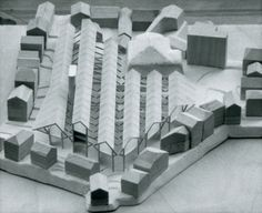 Sverre FehnCultural center in Stavanger, model, 1979