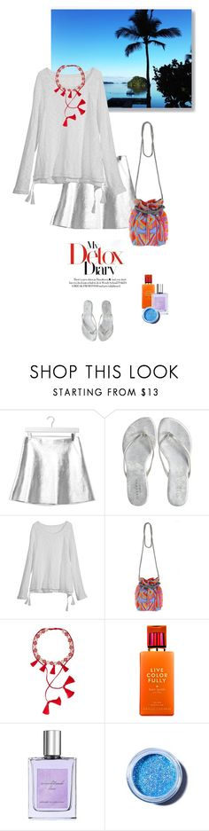 """""""1301"""" by m-lane ❤ liked on Polyvore featuring Topshop, Calypso Private Label, ASPIGA, SHOUROUK, Kate Spade, philosophy, Lime Crime, women's clothing, women and female"""