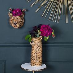 Leopard Bedroom, Leopard Decor, Leopard Wall, Diy Home Decor, Room Decor, Quirky Decor, Ceramic Flowers, My New Room, Home Decor Accessories