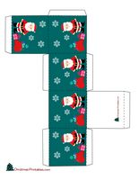 gift box with images of santa