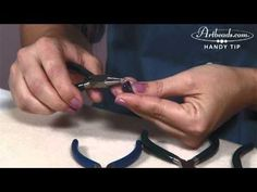Artbeads.com Handy Tip Video - How to make a wrapped loop. The wrapped loop is a staple of wire working. It is useful to finish earrings, make links for a chain, or dangle a pendant from a necklace. With this handy tip video, we'll show you the simple techniques used in creating a wrapped loop.