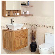 Oak-Wall-Hung-Mounted-Bathroom-Vanity-Sinks-Unit-Cabinet-Basin-Bowl-MB601-A