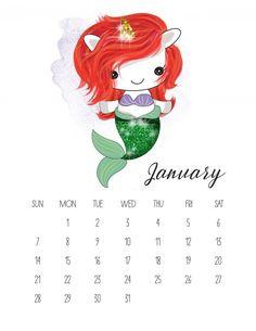 Free Printable 2018 Pop Culture Unicorn Calendar