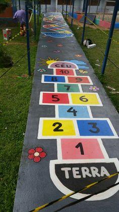 Educação Infantil - Pintura no chão