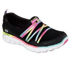 Sporty+style+and+blissful+comfort+makes+you+the+star+in+the+SKECHERS+Synergy+-+Scene+Stealer+shoe.++Soft+woven+fabric+and+smooth+f…