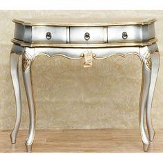 pinterest gold furniture | ... Bedroom Furniture › Bedroom Vanity › Silver Gold Console Table
