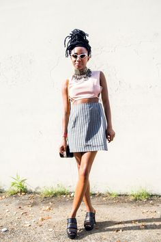 40 Afropunk Street Style Looks To Copy Now #refinery29  http://www.refinery29.com/2015/08/91360/afropunk-2015-music-festival-street-style-pictures#slide-25  When your statement choker does all the talking....