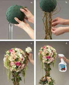idée DIY pour un centre de table tout en fleurs