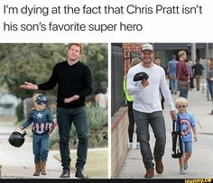 What makes it even better is that it is another of the marvel Chris's El Humor, Humour, Marvel Funny, Marvel Memes, Marvel Avengers, Marvel Dc Comics, Chris Pratt, Funniest Pictures, Funny Pictures