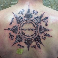 1337tattoos: The Yant Paed Tidt done by Jill and Jana ad the Thaitattoo studio in The Netherlands. submitted by Yasamota