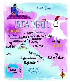 Istanbul map by Scott Jessop, June 2013 issue