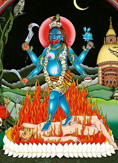 Kali Goddess, Mother Goddess, Hanuman, Durga, Kali Hindu, Kali Mata, Mata Rani, Diwali Greetings, Religious Pictures