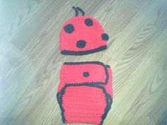 Ladybug Hat & Diaper Cover by TheScottishKitten on Etsy, $20.00