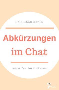 Italienisch lernen: Hier kannst du dir eine Liste mit nützlichen Abkürzungen herunterladen, die im Chat und in den sozialen Medien häufig verwendet werden. Languages, Bella, Father, Inspiration, Cat Breeds, Learning Italian, Italian Language, Social Media, Idioms