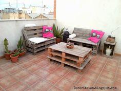 Terraza con Pallets