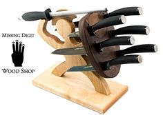 Special Edition Handmade Spartan Knife Block  American Maple and Walnut -- You can find more details by visiting the image link. (Amazon affiliate link)