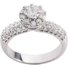 Simon Frank 'Beautiful Light' Collection CZ Engagement Ring