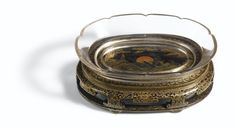 A superb crystal brushwasher and its original maki-e carved lacquer stand, Qing dynasty, Yongzheng period