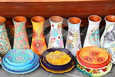 Photo about Traditional pottery handmade craft exposed. Image of earthenware, object, clay - 78162116 Earthenware, Handmade Crafts, Pottery, Clay, Stock Photos, Traditional, Abstract, Ceramica, Clays