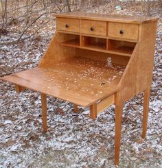 Nature's+Cherry+Desk+in+Nature's+Snow+by+CustomFurnCreations,+$1200.00