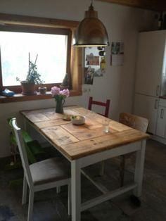 Esstisch, Bauholz im Shabby-Landhaus-Stil handmade / Middenbalk in Berlin - Lichtenberg | Couchtisch gebraucht kaufen | eBay Kleinanzeigen