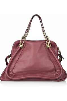 chloéparaty medium leather shoulder bag.