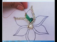 Hand Embroidery/Amazing Flower Embroidery with Beads,Beads Embroidery Work - - Hand Embroidery/Amazing Flower Embroidery with Beads,Beads Embroidery Work perlage Handstickerei / Erstaunliche Blumenstickerei mit Perlen, Perlenstickerei Bead Embroidery Tutorial, Hand Embroidery Videos, Bead Embroidery Patterns, Bead Embroidery Jewelry, Hand Embroidery Stitches, Beaded Embroidery, Beading Patterns, Flower Embroidery, Embroidery Sampler