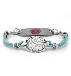 Robin's Egg Medical ID Bracelet - love this one also have to get this one ASAP!! :) How do I get just one?? :(