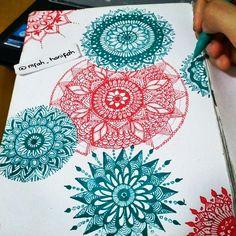 Mandala, drawing, artpen, doodle, design