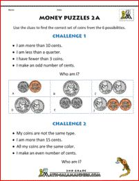 Money Worksheets for Kids - Money Riddles UK 2nd Grade Math Worksheets, Money Worksheets, Printable Math Worksheets, Science Worksheets, 1st Grade Math, Worksheets For Kids, Math Resources, Second Grade, Have Fun Teaching